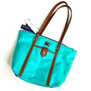 Dooney & Bourke | Teal Nylon Leather Tote NWT